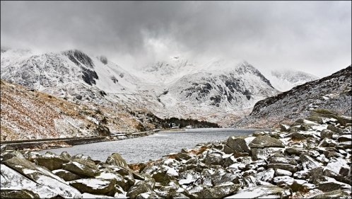 Ogwen valley in the snow - December 2009