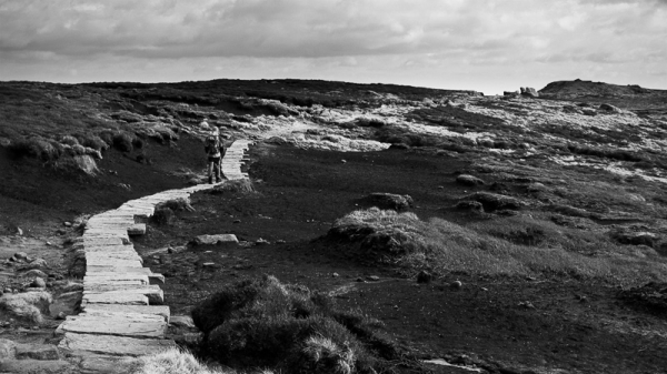 Kinder Scout - path across the peat